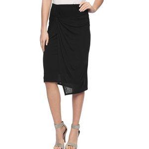 Splendid Black Drapey Lux Knot Skirt Size XS
